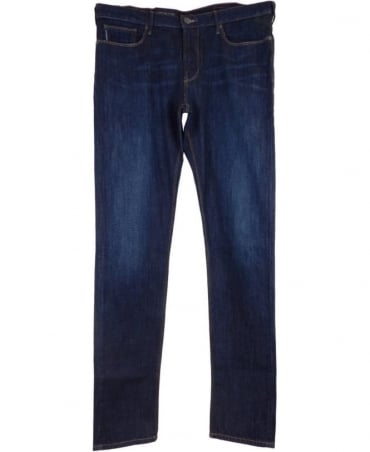 Armani J06 Slim Fit Jeans In Dark Blue
