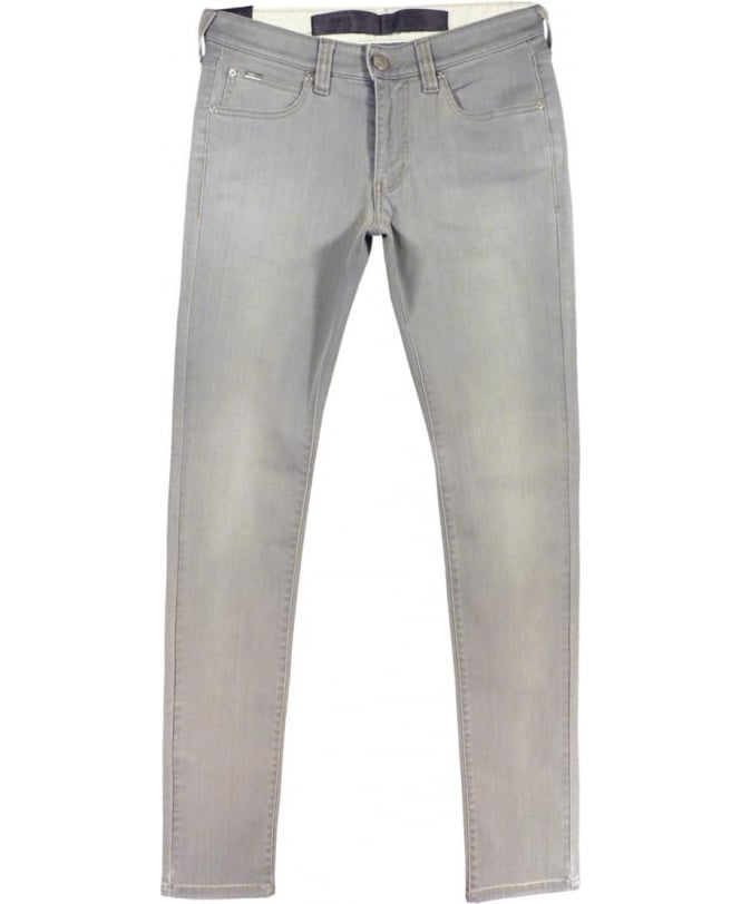 Armani Collezioni J06 Slim Fit Jeans In Light Grey