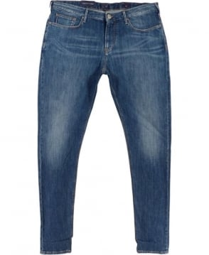 Armani Jeans J06 Slim Fit Jeans In Mid Blue