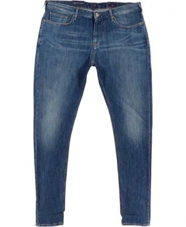 Armani J06 Slim Fit Jeans In Mid Blue