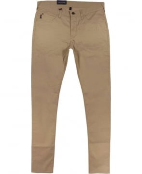 Armani J10 Extra Slim Fit Jeans In Beige Cotton
