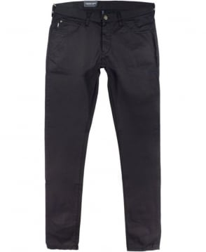 Armani Jeans J10 Extra Slim Fit Jeans In Black Cotton