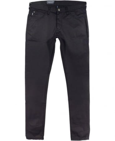 Armani J10 Extra Slim Fit Jeans In Black Cotton