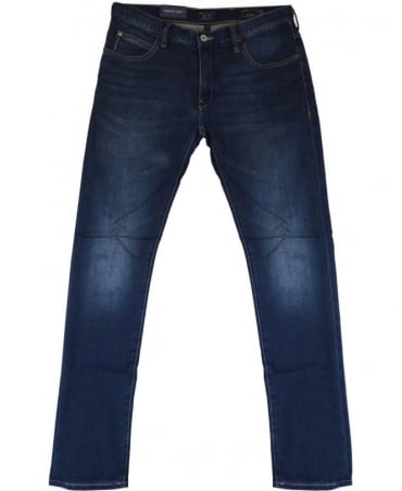 Armani J10 Extra Slim Fit Jeans In Mid Blue