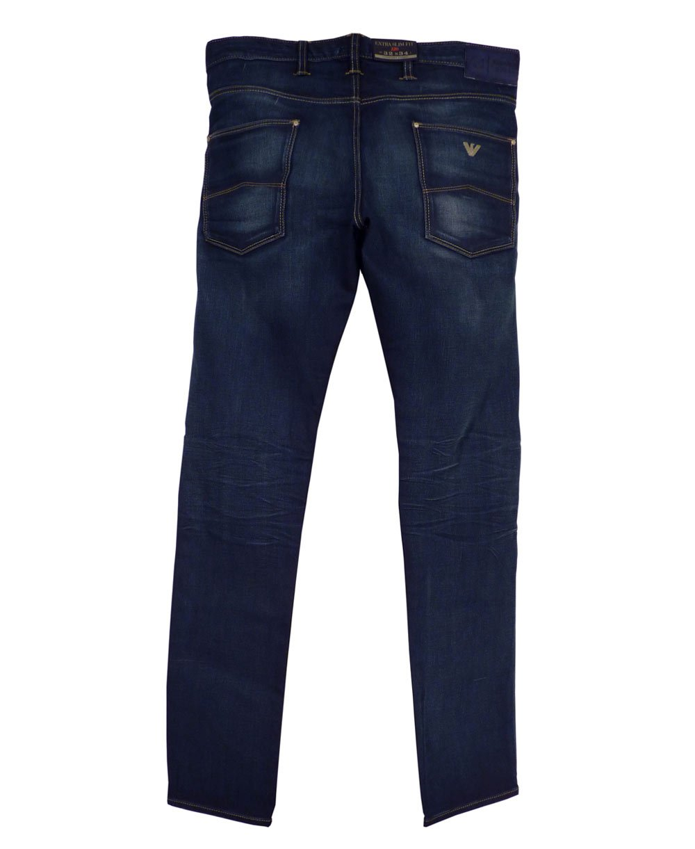 armani jeans j20 extra slim fit dark blue jeans armani jeans from jonathan trumbull uk. Black Bedroom Furniture Sets. Home Design Ideas
