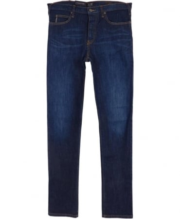 Armani J21 Regular Fit Jeans In Dark Blue