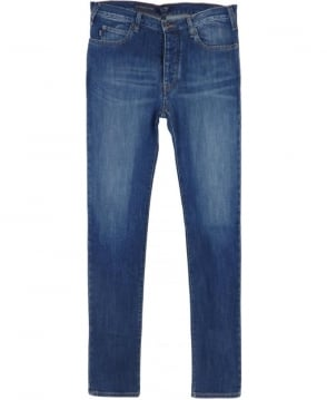 Armani Jeans J21 Regular Fit Jeans In Mid Blue