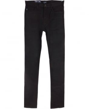 Armani Jeans J45 Slim Fit Cotton Jeans in Black