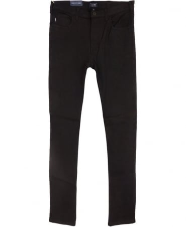 Armani Jeans J45 Slim Fit Jeans In Black