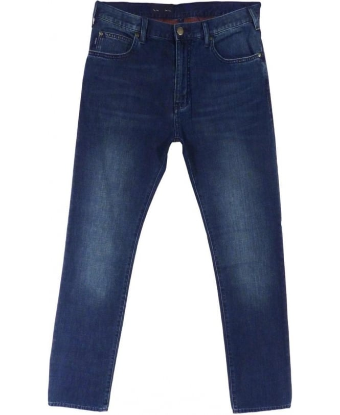 Armani Jeans J45 Slim Fit Jeans In Blue