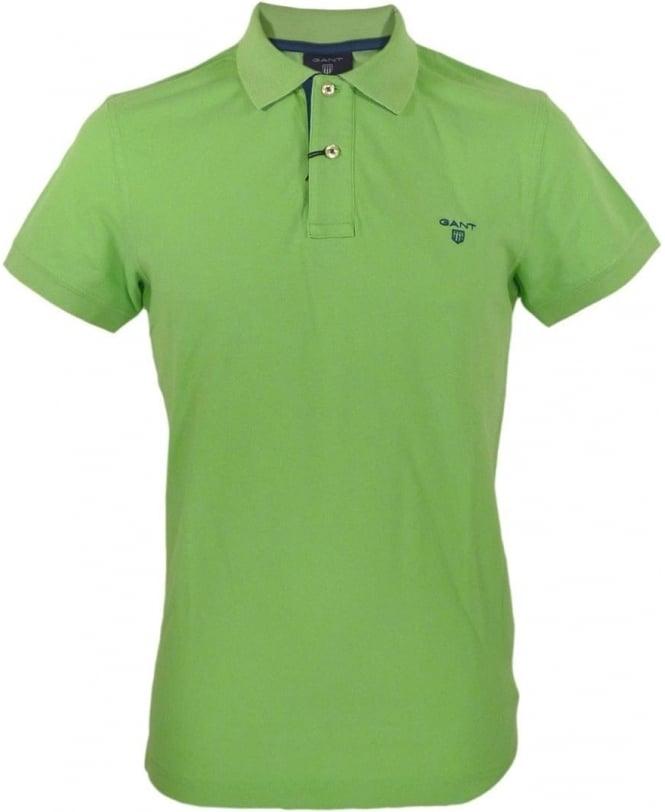 Gant Jasmine Green Contrast Under Collar Polo