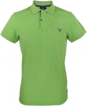 Gant Jasmine Green Contrast Under Collar Polo