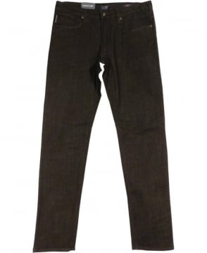 Armani Jeans Black JO6 Slim Fit Jeans