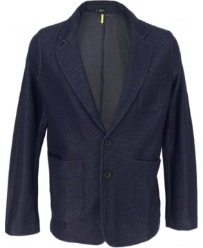 Replay Jersey Jacket In Navy