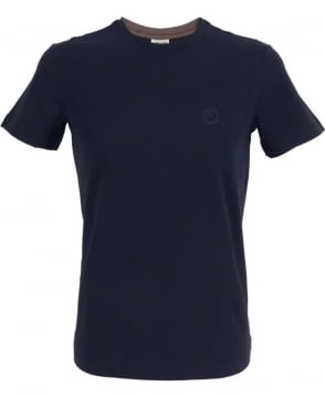 Armani Jersey T-shirt In Navy