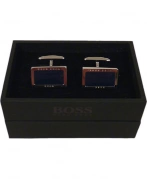 Hugo Boss 'JIM' Rectangular Cufflinks In Brass