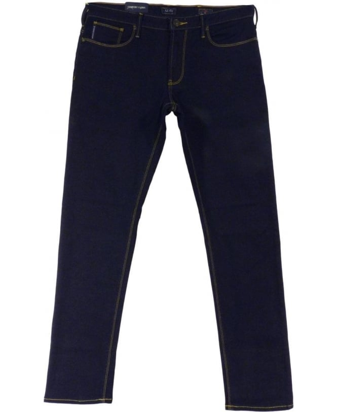 Armani Jeans JO6 Slim Fit Jeans In Dark Blue