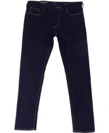 Armani JO6 Slim Fit Jeans In Dark Blue