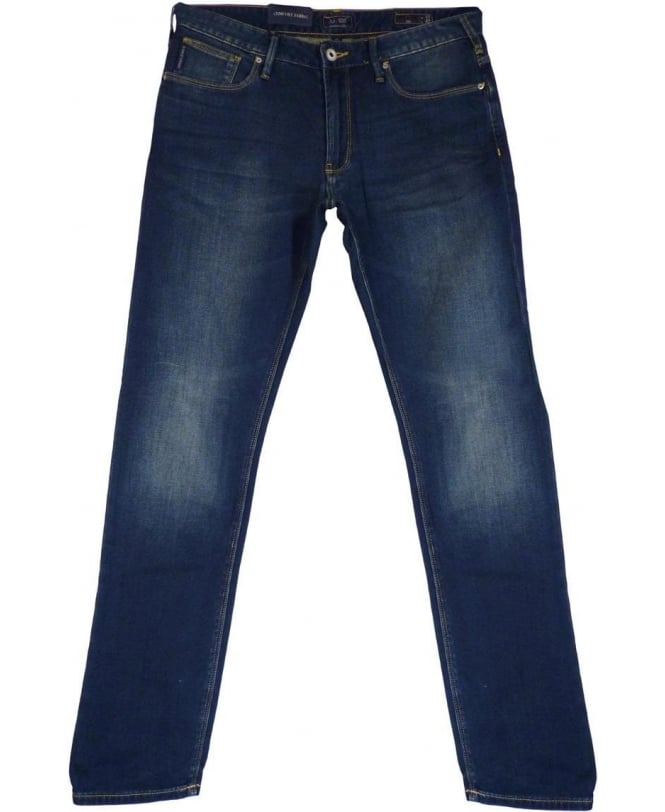 Armani Jeans JO6 Slim Fit Jeans In Mid Blue
