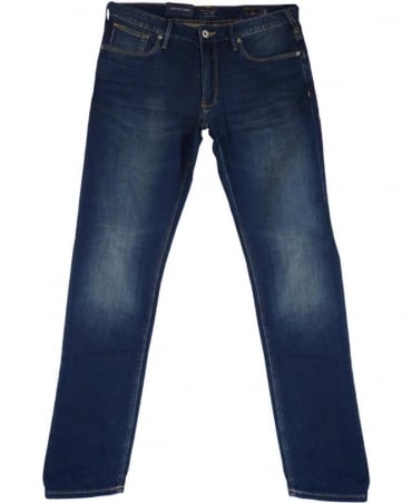 Armani JO6 Slim Fit Jeans In Mid Blue