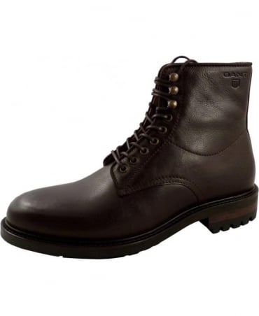 Gant Jules Dark Brown Side Logo Boot