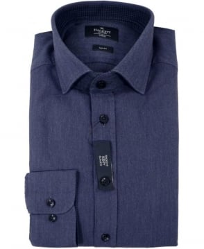 Hackett Kent Mini Indigo Herringbone Shirt