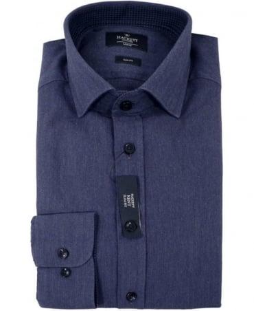 Hackett Kent Mini Indigo Herringbone Shirt