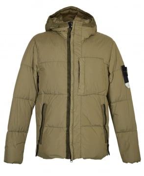 Stone Island Khaki 40223 Crinkle Reps NY Down Jacket