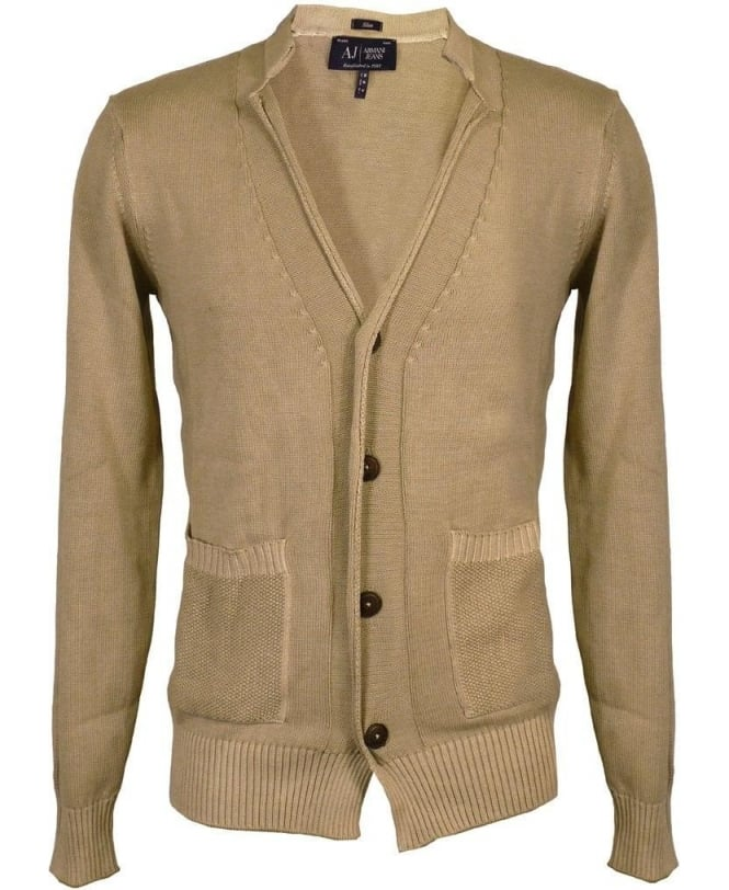 Armani Jeans Khaki Button Up Cardigan
