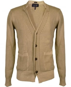 Armani Khaki Button Up Cardigan
