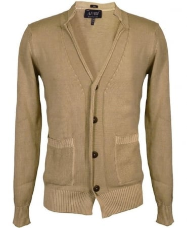 Armani Khaki Button Up Cardigan