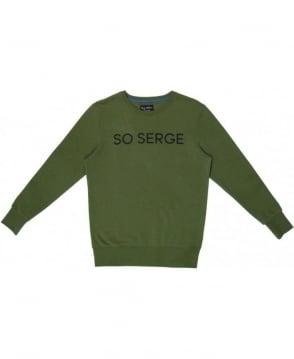 Serge DeNimes Khaki Green Crew Neck So Serge Sweat