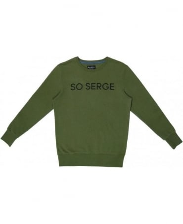 Serge DeNimes Khaki Green Crew Neck So Serge Sweat