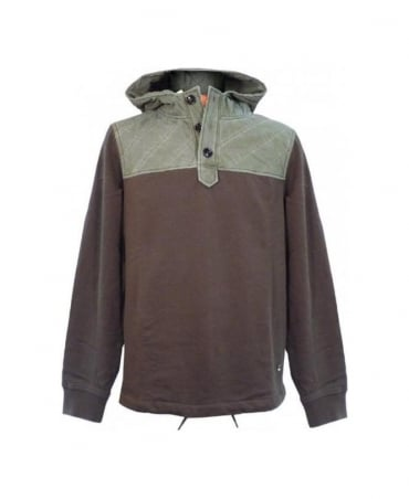 Khaki & Green Drawstring Sweatshirt