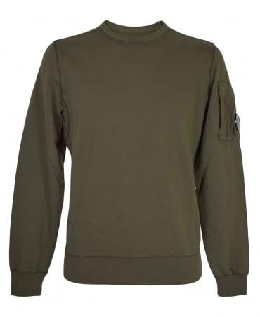 CP Company Khaki Green MSS036A Lens Sweatshirt