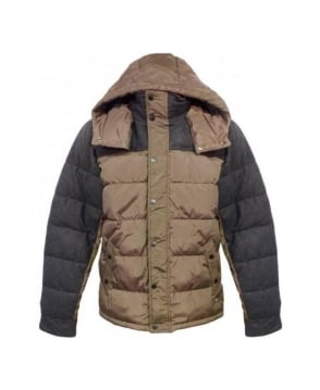 Scotch & Soda Khaki & Grey Down Jacket 13040910035