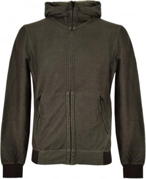 CP Company Khaki Hooded Google Sweatshirt