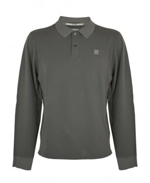 C.P. Company Khaki Long Sleeve Polo