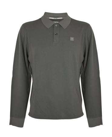 CP Company Khaki Long Sleeve Polo