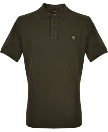 CP Company Khaki Short Sleeve Polo