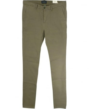 Scotch & Soda Khaki 'Stuart' Regular Fit Chinos
