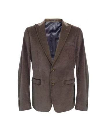 Hamaki-Ho Khaki Two Button Slim Fit Blazer GA447H