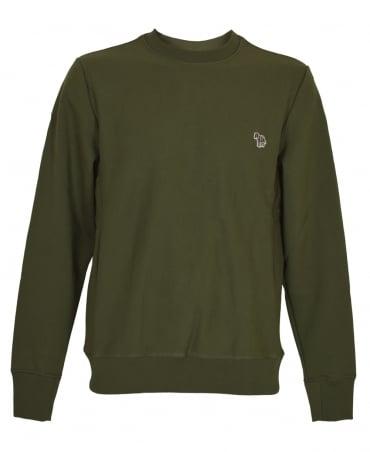 PS By Paul Smith Khaki Zebra Logo PTXD/027R/933Z Sweatshirt