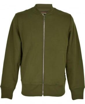 PS By Paul Smith Khaki Zip Up Bomber Jacket