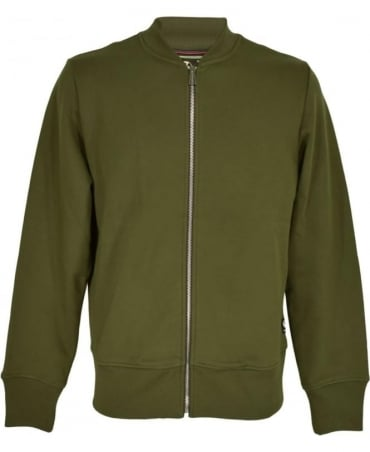 PS By Paul Smith Khaki Zip Up Bomber Jacket