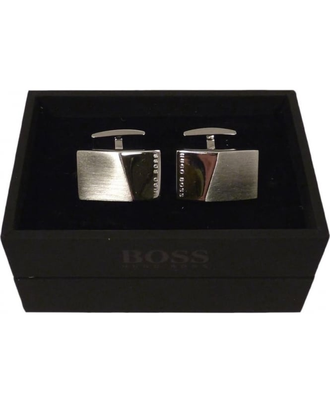Hugo Boss 'Klaus' Rectangular Cufflinks In Brass