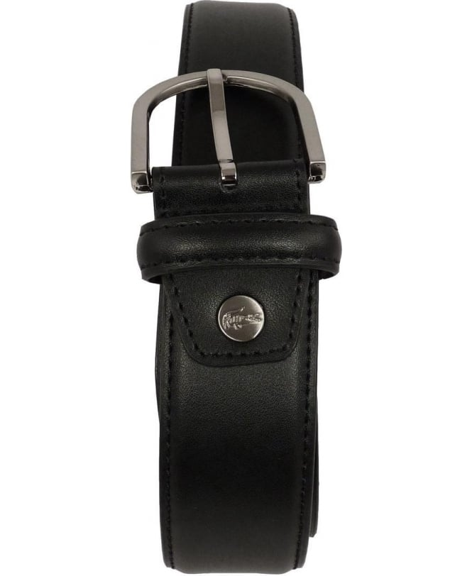 e1d9703efd8214 Lacoste Black Leather Metal Logo Belt RC1422 - Belts from Jonathan ...