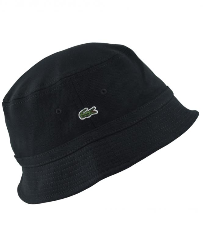 Lacoste Black RK8490 Bucket Hat - Hats from Jonathan Trumbull UK aa1b9412421