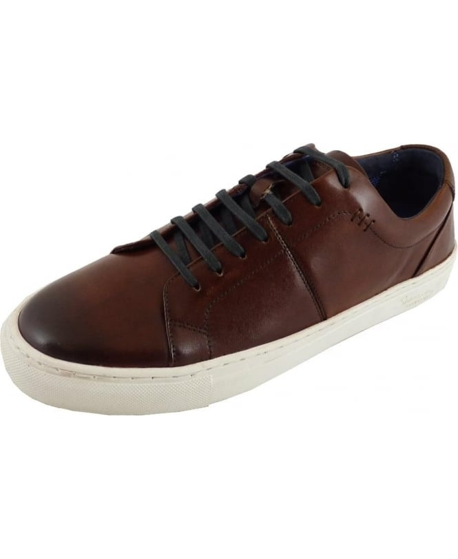 c1c34b7f13c3 Laine Chestnut Leather Trainer