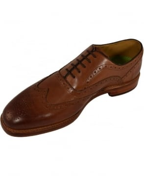 Oliver Sweeney Leather 'Aldeburgh' Oxford Brogue In Dark Tan